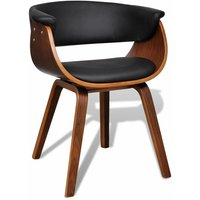 Hommoo Dining Chair Bent Wood and Faux Leather VD33050
