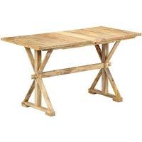 Hommoo Dining Table 118x58x76 cm Solid Mango Wood VD13445