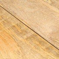 Dining Table 118x58x76 cm Solid Mango Wood QAH13445 - Hommoo