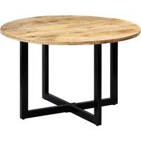 Dining Table 120x73 cm Solid Mango Wood QAH13702 - Hommoo
