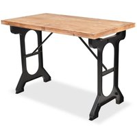 Hommoo Dining Table Solid Fir Wood Top 122x65x82 cm VD11451