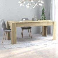Hommoo Dining Table Sonoma Oak 180x90x76 cm Chipboard