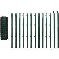Euro Fence Steel 25x1.0 m Green QAH03620 - Hommoo