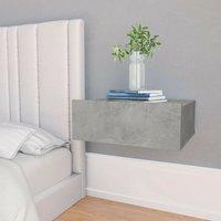 Floating Nightstand Concrete Grey 40x30x15 cm Chipboard - Hommoo