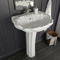 Hommoo Freestanding Basin with Pedestal Ceramic White 580x510x200mm VD05015