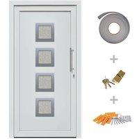 Hommoo Front Entrance Door White 108x200 cm VD21418