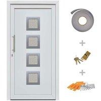Hommoo Front Entrance Door White 98x208 cm VD21411