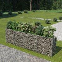 Gabion Planter Galvanised Steel 360x50x100 cm VD05463 - Hommoo