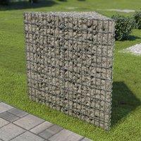 Gabion Planter Galvanised Steel 75x75x100 cm VD05499 - Hommoo