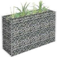 Gabion Planter Galvanised Steel 90x30x60 cm VD35164 - Hommoo