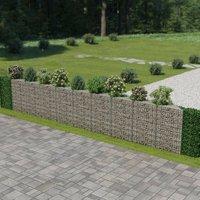 Gabion Wall Galvanised Steel 630x30x100 cm VD05476 - Hommoo