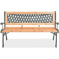 Garden Bench 122 cm Wood QAH26138 - Hommoo