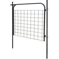 Garden Fence Gate 100x100 cm Anthracite QAH04428 - Hommoo
