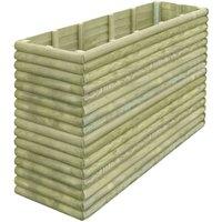 Hommoo Garden Planter 197x56x96 cm FSC Impregnated Pinewood