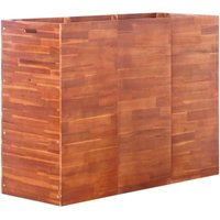 Hommoo Garden Planter Acacia Wood 150x50x100 cm VD28250