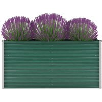 Hommoo Garden Planter Galvanised Steel 160x40x77 cm Green VD