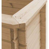 Garden Raised Bed 150x150x80 cm Solid Pinewood QAH29330 - Hommoo