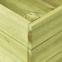 Garden Raised Bed 200x150x54 cm Impregnated Pinewood QAH46920 - Hommoo