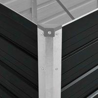 Garden Raised Bed Anthracite 320x80x77 cm Galvanised Steel QAH29849 - Hommoo