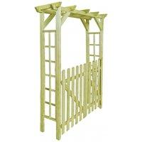 Garden Rose Arch 150x50x200 cm FSC Impregnated Wood VD27020 - Hommoo