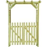 Garden Rose Arch 150x50x200 cm Impregnated Wood QAH27020 - Hommoo