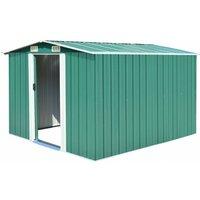 Hommoo Garden Shed 257x298x178 cm Metal Green VD05263