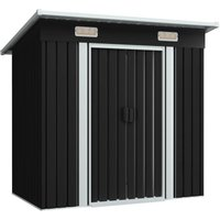 Hommoo Garden Shed Anthracite Metal VD30183