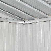 Garden Shed Green Metal QAH27373 - Hommoo