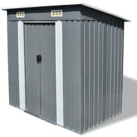 Hommoo Garden Shed Grey Metal VD27431