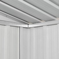 Hommoo Garden Shed Grey Metal QAH27431