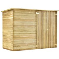 Hommoo Garden Shed House 232x110x170 cm Impregnated Pinewood QAH29999