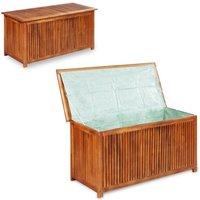 Garden Storage Box 117x50x58 cm Solid Acacia Wood VD28334 - Hommoo