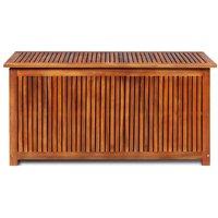 Garden Storage Box 117x50x58 cm Solid Acacia Wood QAH28334 - Hommoo