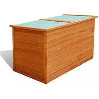 Garden Storage Box 126x72x72 cm Wood VD27204 - Hommoo