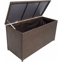 Garden Storage Box Brown 120x50x60 cm Poly Rattan VD27046 - Hommoo