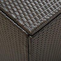 Hommoo Garden Storage Box Poly Rattan 180x90x75 cm Brown QAH30011