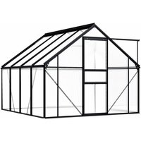 Greenhouse Anthracite Aluminium 4.75 m2 QAH46367 - Hommoo