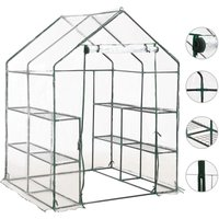 Greenhouse with 8 Shelves 143x143x195 cm VD30172 - Hommoo