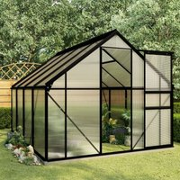 Hommoo Greenhouse with Base Frame Anthracite Aluminium 4.75 m2 VD46373