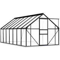 Hommoo Greenhouse with Base Frame Anthracite Aluminium 8.17 m2 QAH46376