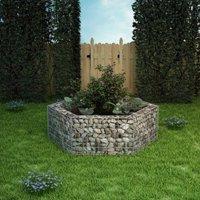 Hexagonal Gabion Planter 160x140x50 cm VD04656 - Hommoo