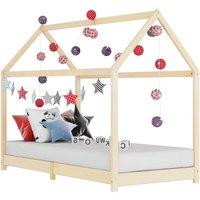 Kids Bed Frame Solid Pine Wood 80x160 cm VD24201 - Hommoo