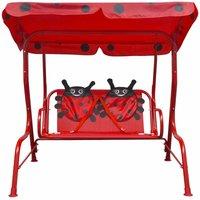 Kids Swing Seat Red QAH26720 - Hommoo