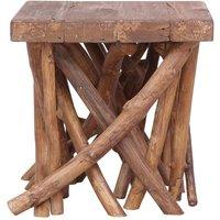 Hommoo Log Coffee Table 40x40x40 cm Solid Wood QAH36282
