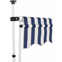 Manual Retractable Awning 350 cm Blue and White Stripes QAH27586 - Hommoo