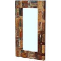 Hommoo Mirror Solid Reclaimed Wood 80x50 cm QAH09737