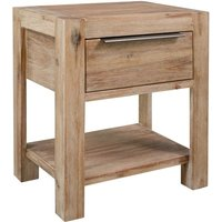 Nightstand with Drawer 40x30x48 cm Solid Acacia Wood VD11632 - Hommoo