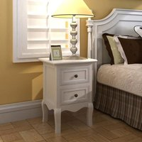 Nightstands 4 pcs with 2 Drawers MDF White VD18928 - Hommoo