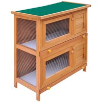 Outdoor Rabbit Hutch Small Animal House Pet Cage 4 Doors Wood VD06897 - Hommoo