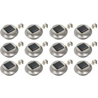 Outdoor Solar Lamps 12 pcs LED Round 12 cm White VD19869 -